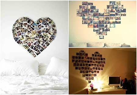 decoração com fotografias