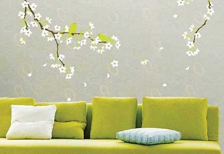 com sofás verdes