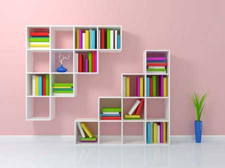 fotos de prateleiras de livros