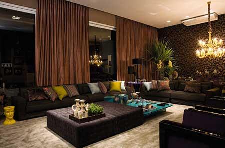 Salas de luxo decoradas: simples, pequenas, grandes, fotos