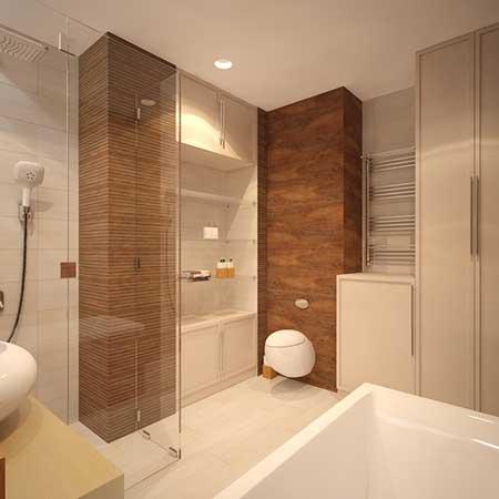 30 banheiros com porcelanato bege branco preto amarelo - Imagenes de pisos reformados ...