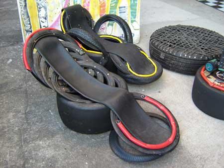 imagens de artesanato com pneus