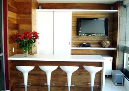 decoração com paredes de madeira