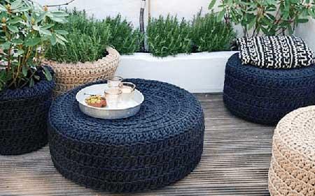 artesanatos com pneus