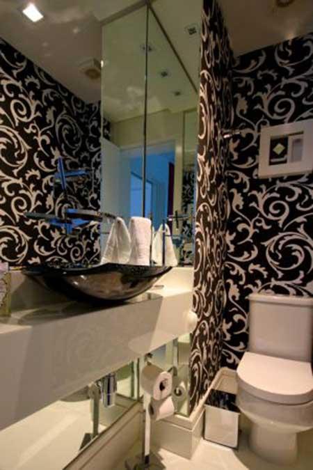 Fotos de lavabos modernos dicas imagens decora o - Papel decorado para paredes ...