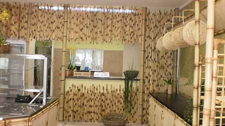 ideias de decoração com bambu