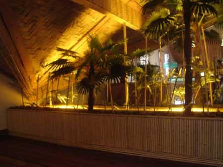 fotos de decoração com bambu