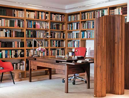 fotos de estantes de livros