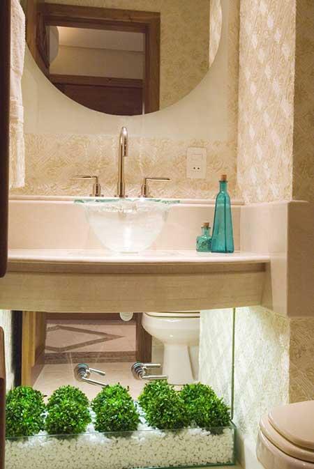 decoracao lavabos fotos:Lavabo Pequeno Decorado: Ideias, Decoração, Fotos