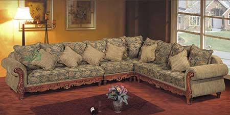 imagens de sofá de madeira