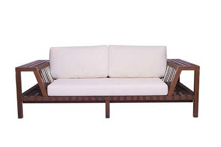 modelo de sofá de madeira