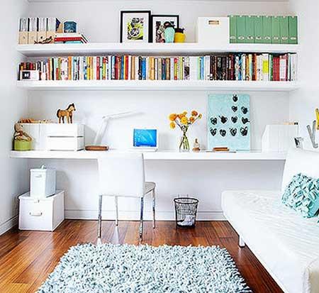 Estantes para livros de parede grandes pequenas dicas for Estantes para espacios pequenos
