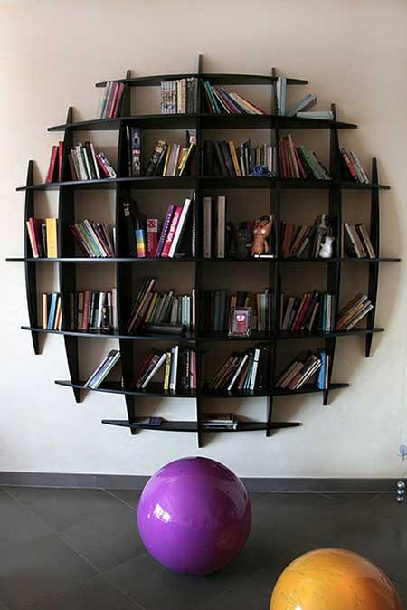 imagens de estantes para livros