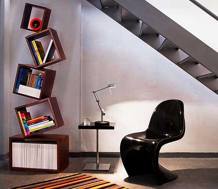 decoração com estantes para livros
