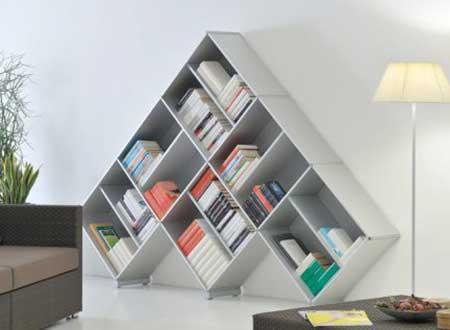 como decorar com estantes para livros