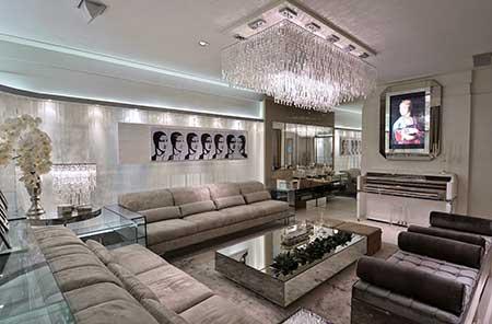 sala de luxo decorada