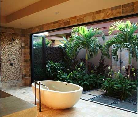 decoração da banheira