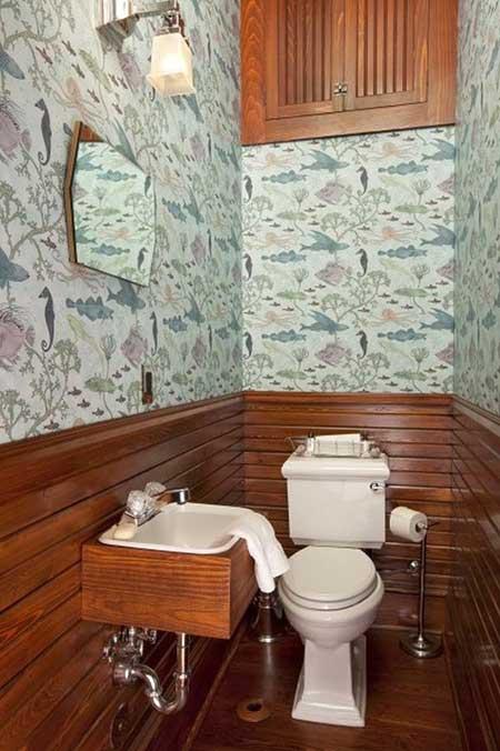 decoracao lavabos fotos:Os itens como registros, porta-papel, porta toalha e torneira ficam