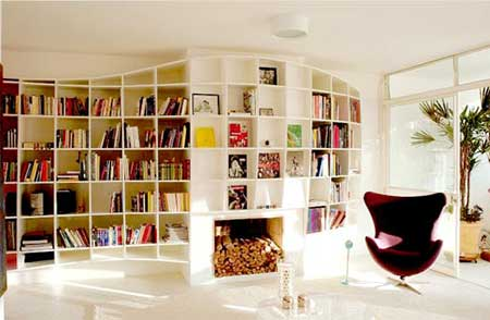 prateleiras de livros planejadas