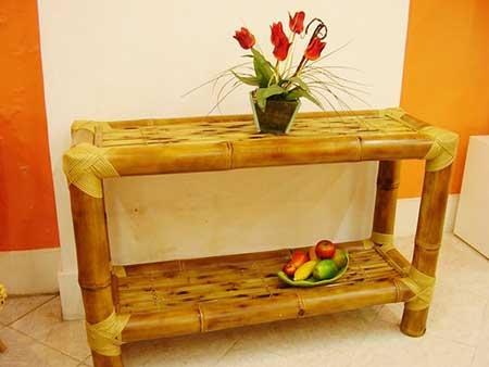 imagens de decoração com bambu