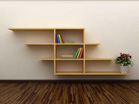 prateleiras de livros simples