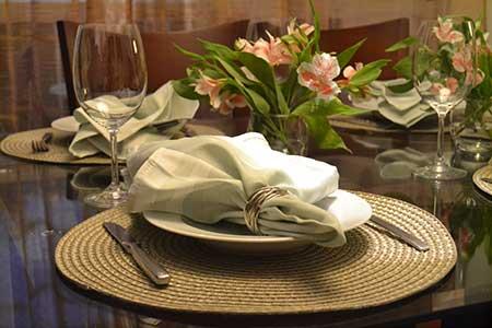 Imagem de Mesa de Jantar Decorada