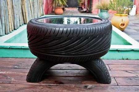 como fazer artesanato com pneus passo a passo. Black Bedroom Furniture Sets. Home Design Ideas