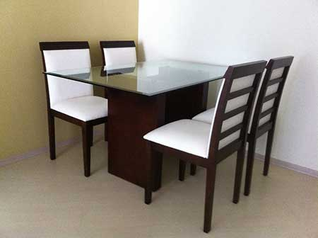 modelos de mesa com 4 cadeira