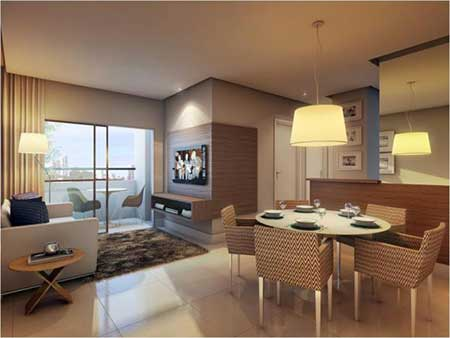 50 apartamentos decorados fotos dicas imagens for Apartamentos decorados pequenos