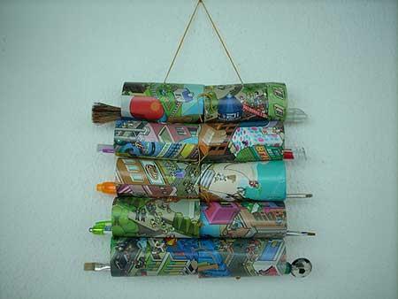 dica de artesanato com rolo de papel higiênico