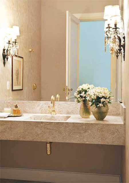 decoracao lavabos fotos: de Banheiros » Decoração com Papel de Parede para Lavabos