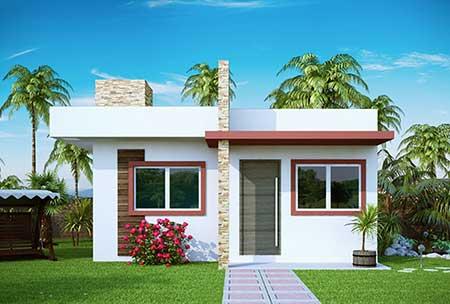 30 fachadas de casas pequenas simples modernas fotos - Imagenes de fachadas de casas pequenas de un piso ...