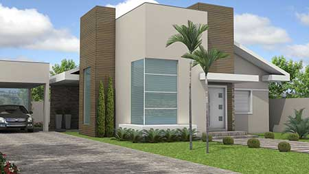 30 fachadas de casas pequenas simples modernas fotos for Fachadas minimalistas para casas pequenas