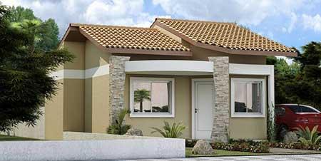 30 fachadas de casas pequenas simples modernas fotos for Diseno de frente de casa pequena