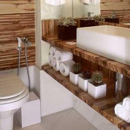 como fazer decoração de lavabos