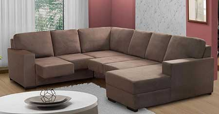 Sof de canto grande pequeno fotos dicas imagens for Casas de sofas en montigala