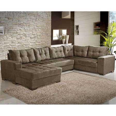 Sof de canto grande pequeno fotos dicas imagens Modelos de sofas para salas
