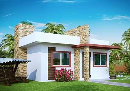 30 fachadas de casas pequenas simples modernas fotos for Casas pequenas bonitas y modernas