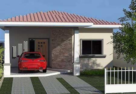 30 fachadas de casas pequenas simples modernas fotos for Buscar casas modernas