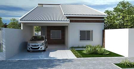 30 fachadas de casas pequenas simples modernas fotos for Fachadas de frente de casas pequenas