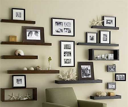 fotos de estantes decorativas
