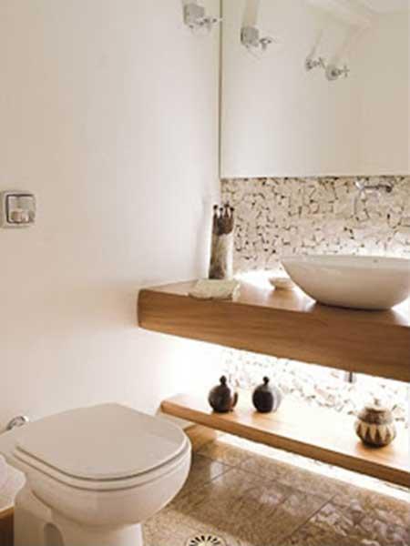 Decora o de lavabos pequenos grandes simples de luxo - Lavabos de pared ...