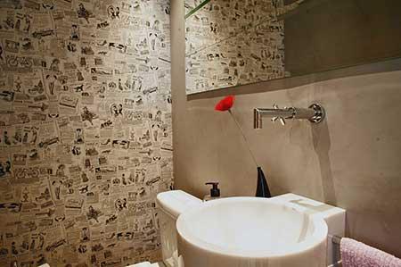 papel de parede para lavabos