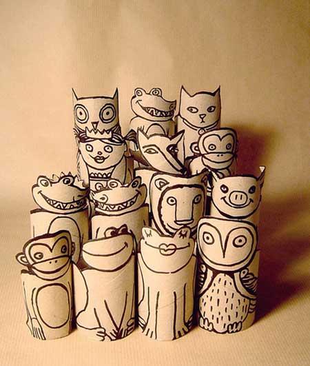 fotos de artesanato com rolo de papel higiênico