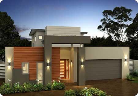 30 fachadas de casas pequenas simples modernas fotos for Casas minimalistas modernas pequenas