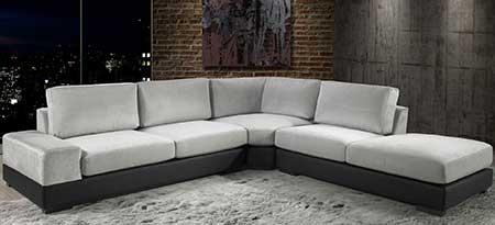 decoração de sofá de canto
