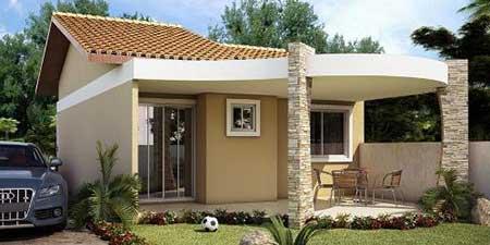 30 fachadas de casas pequenas simples modernas fotos for Casas modernas y pequenas