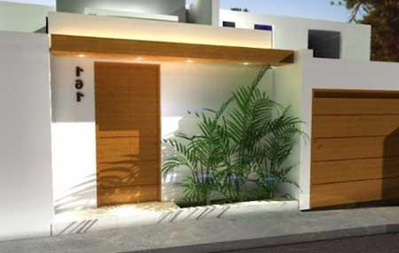 30 fachadas de casas pequenas simples modernas fotos for Modelos de fachadas modernas para casas