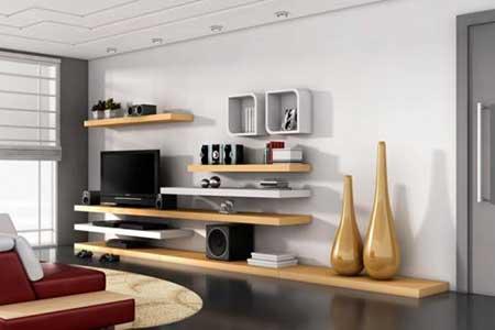 modelo de estante de parede