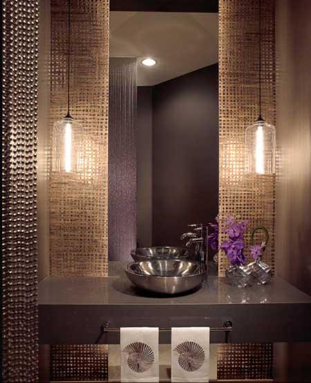 35 fotos e modelos de papel de parede para lavabos for Papel de pared rustico
